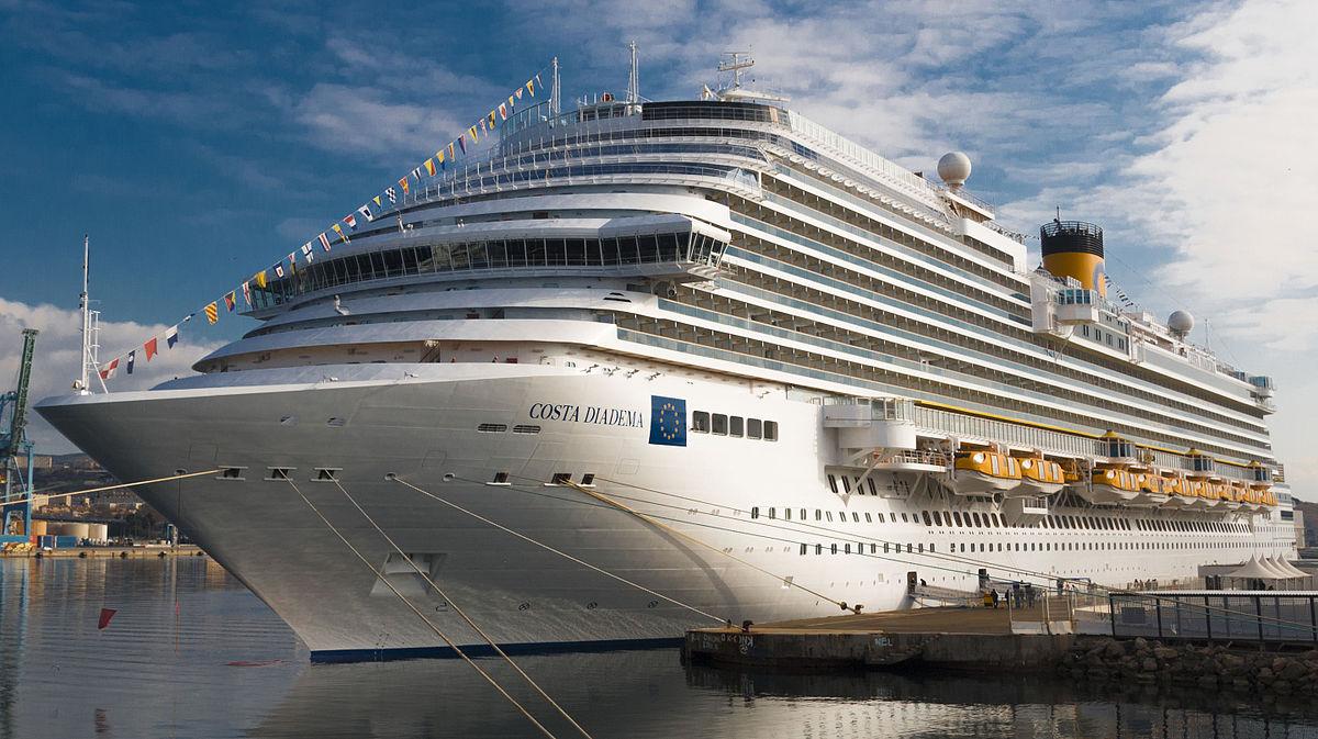 Costa Diadema imbarco dal porto di Cagliari